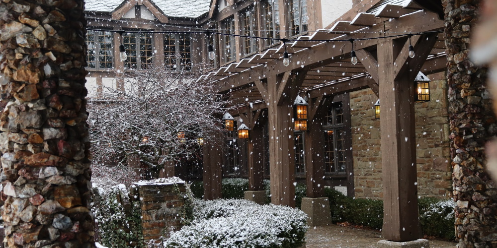 Snowfall in the Courtyard
